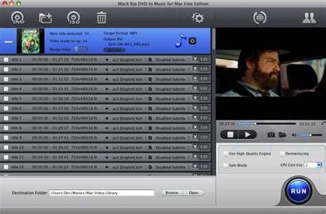 dvd format video songs macx rip dvd to music for mac free edition free solution