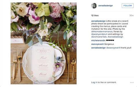Zenadia Design Instagram | wedding instagram inspiration from planners