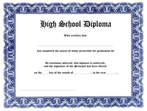 templates of certificates and diplomas 7 best images of free printable blank diploma template