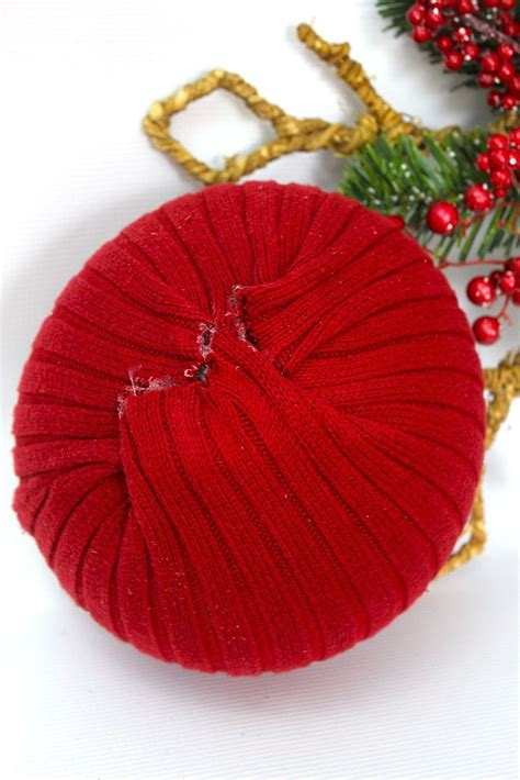 what size ornament is needed to make a handprint snowman ornament hometalk how to make ornaments from sweaters and balls