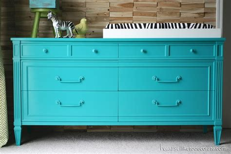 colorful dressers bedroom designs electric blue changing table decor with