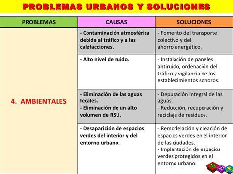 los problemas ambientales en las ciudades atajo avizora t9 5 los problemas de las ciudades espa 241 olas