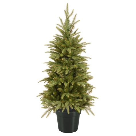3ft hton spruce potted feel real artificial christmas tree 3ft weeping spruce potted feel real artificial tree garden world