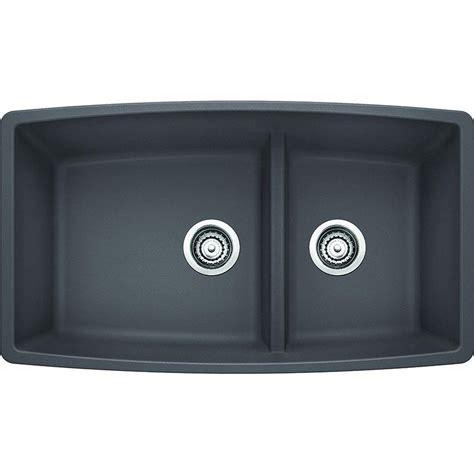 blanco performa kitchen sinks blanco performa undermount granite composite 33 in medium