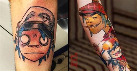 gorillaz tattoo designs 15 gorillaz tattoos that will give you the feel inc