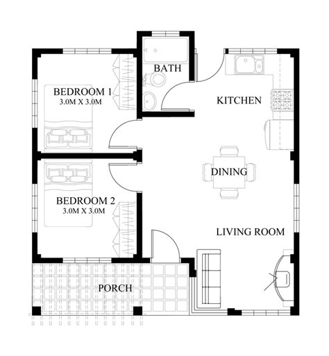 house design in philippines with floor plan small house design series shd 2014008 pinoy eplans