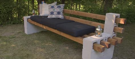 cinder block bench diy diy cinder block bench summer simplified belairdirect