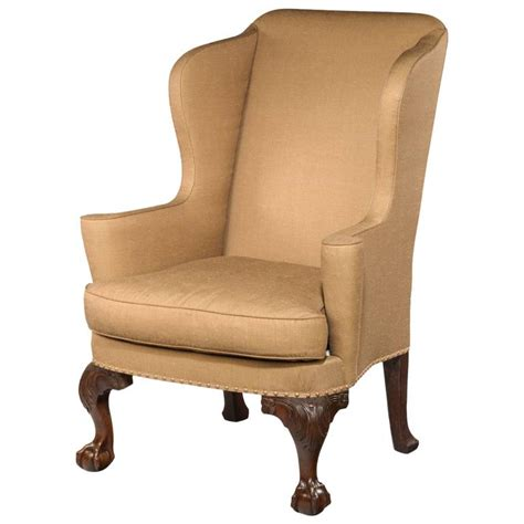 armchair wingback georgian walnut wing armchair for sale at 1stdibs