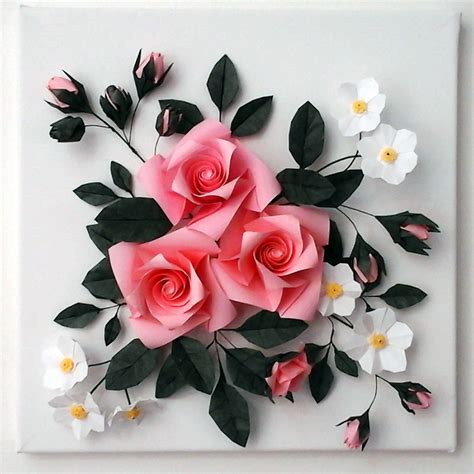 Buy Origami Flowers - buy 3d origami canvas wall origami