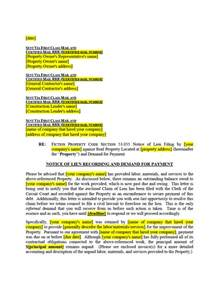 Notice Of Lien Letter Template 5 mistakes in filing mechanics liens