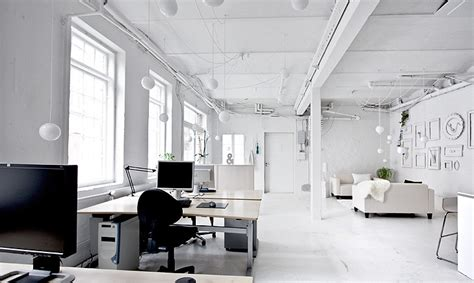 All Interiors by An All White Office Rhetorica Morning S Light