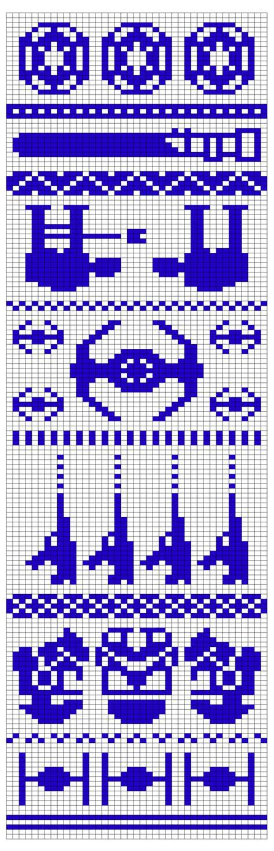 tumblr star wars pattern star wars knitting double knitting knitting chart so