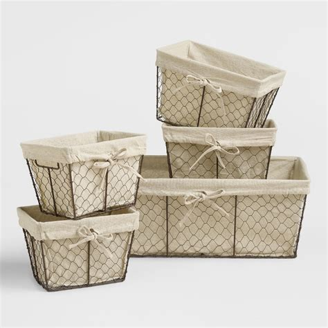 Home Decor And Furniture Stores by Charlotte Lined Wire Baskets World Market