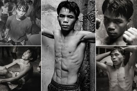 tattoo on pacquiao s chest incredible images of 17 year old manny pacquiao emerge