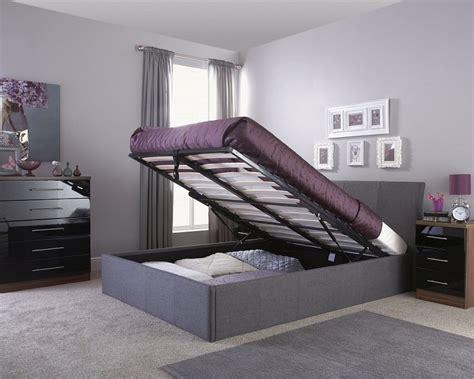 Grey Fabric Ottoman Bed Ascot 150cm Ottoman Grey Fabric Amc Furniture