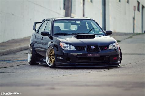 subaru tuner car low loud vic s slammed subaru sti stancenation