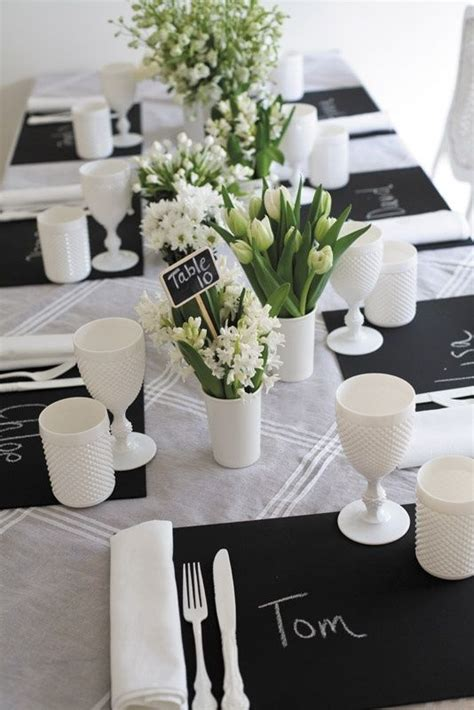 black and white dinner table setting 17 best ideas about white table settings on