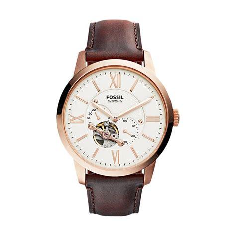 Jam Tangan Fossil Fs014 Brown jual fossil me3105 jam tangan pria brown harga