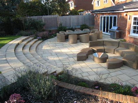 Patio Designs For Large Gardens Christine Lees Garden Design A Garden In Hertfordshire