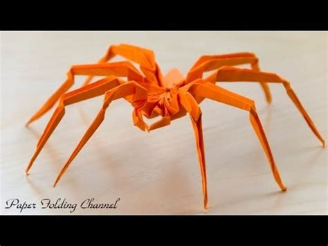 How To Make A Paper Spider - kirikomi origami spider