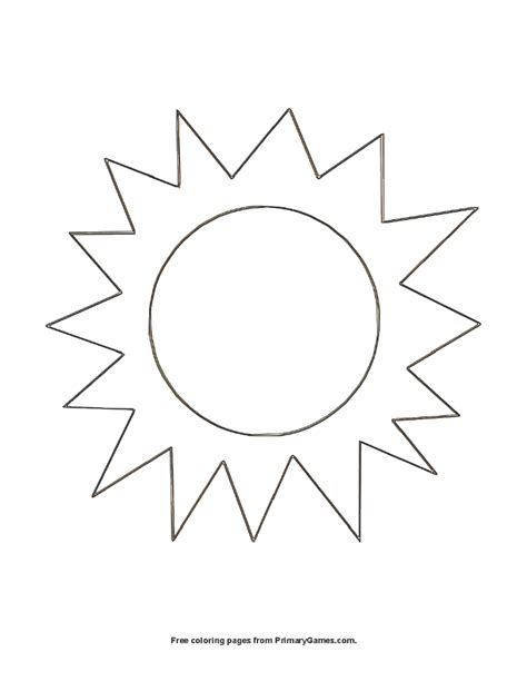 sun coloring page pdf the sun coloring page printable summer coloring ebook