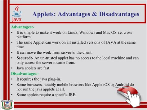 advantages of swing in java java applets
