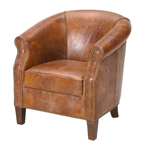 American Chair by American Vintage Leather Tub Chair Buy American Vintage