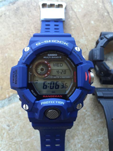 G Shock Rangeman V2 Black Blue casio g shock rangeman custom navy blue tapatalk