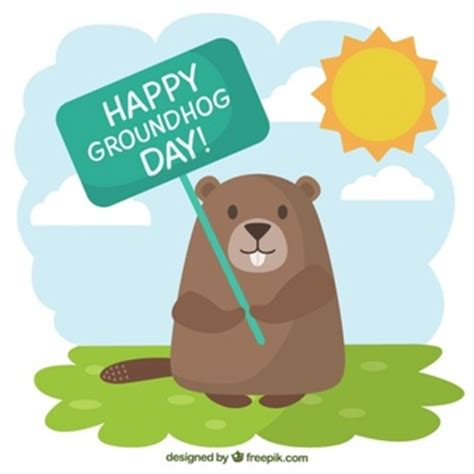 groundhog day years groundhog day background vector free