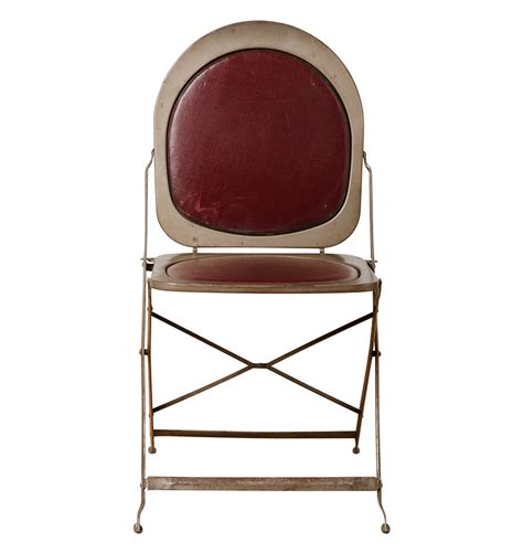 metal folding chair cushions steel folding chair w maroon vinyl cushions rejuvenation