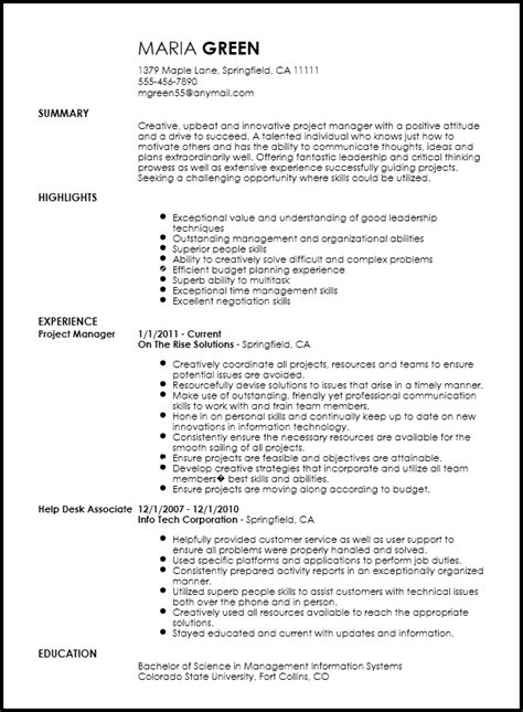 Projects On Resume by Free Creative Project Manager Resume Template Resumenow