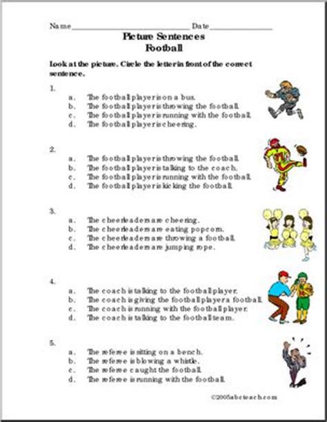 Football Worksheets For Middle School all worksheets 187 football worksheets for middle school