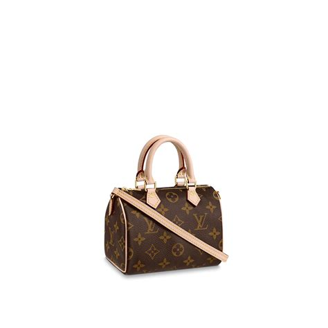 nano speedy monogram canvas handbags louis vuitton