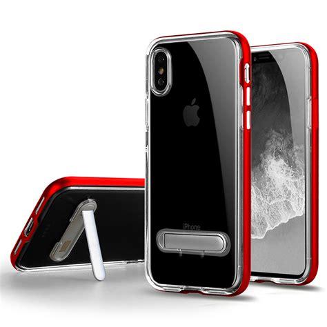 wholesale iphone xs  ten clear armor bumper kickstand