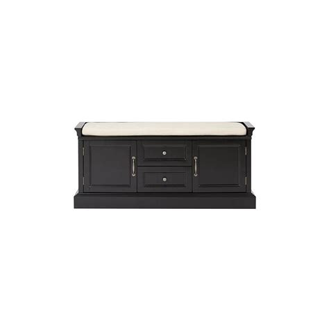 home decorators storage bench home decorators collection royce storage solid black bench
