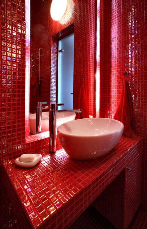 red bathroom 60 red room design ideas all rooms photo gallery