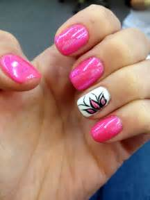 shellac nail design nail art nail ideas gellac pink