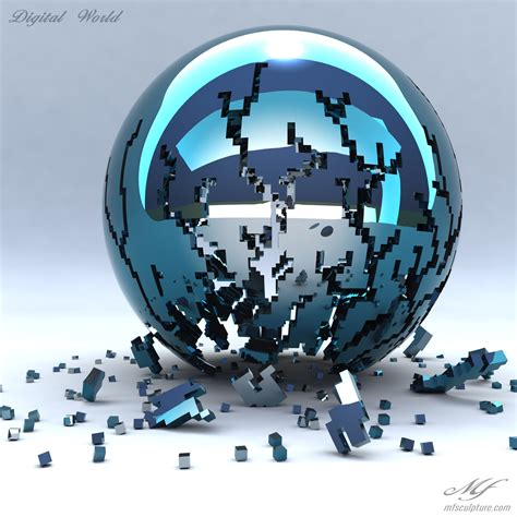 digital world digital world contemporary modern interior design sculpture