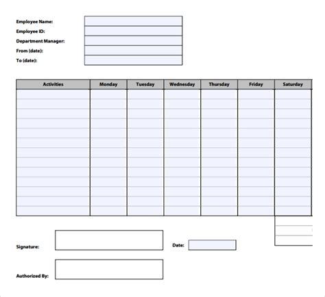 12 Time Tracking Templates Free Sle Exle Format Download Free Premium Templates Time Tracking Template