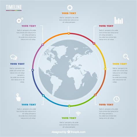 Circular Timeline Infographic Vector Free Download Circular Timeline Template