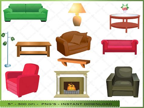 living room clip furniture clipart clip of living room by digitalclipartstore