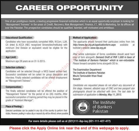Mba Llm Salary by Institute Of Bankers Pakistan 2015 April Apply