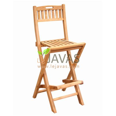 Teak Folding Bar Stools by Teak Outdoor Folding Barstool Le Javas Furniture