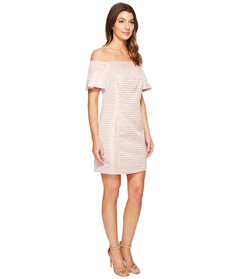 Hq 16708 Shoulder Belted Dress laundry by shelli segal the shoulder metallic dot jacquard shift dress at 6pm