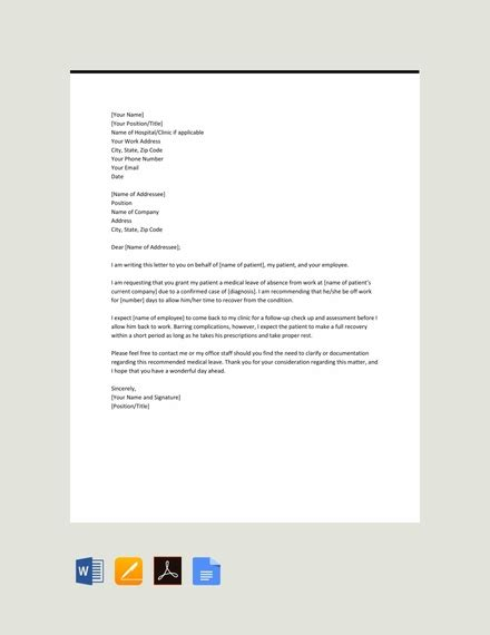 leave letter examples templates word pages docs