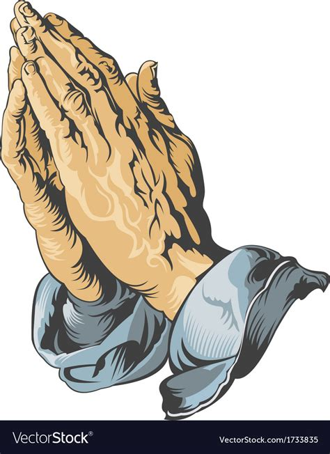 praying hands tattoo royalty free vector image