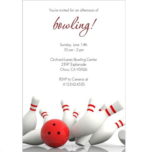 bowling birthday card template 24 outstanding bowling invitation templates designs