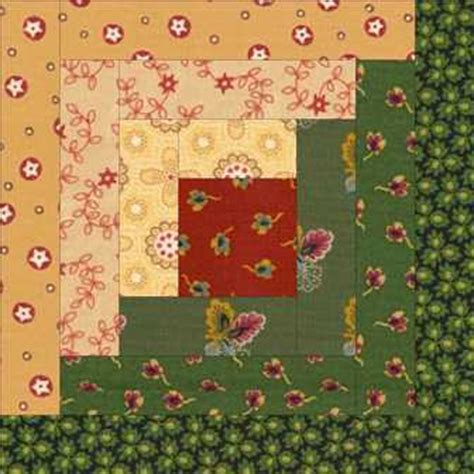 Log Cabin Patchwork History - simple log cabin quilt pattern free quilt pattern