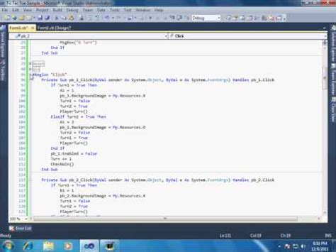 visual basic 2012 xna easy tic tac toe game tutorial 1 create tic tac toe game in visual studio doovi
