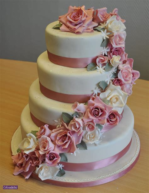 Wedding Cakes Roses by Four Tier Wedding Cake Wedding Cakes